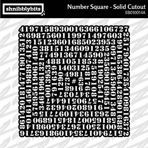 Numbers Square Solid Cutout