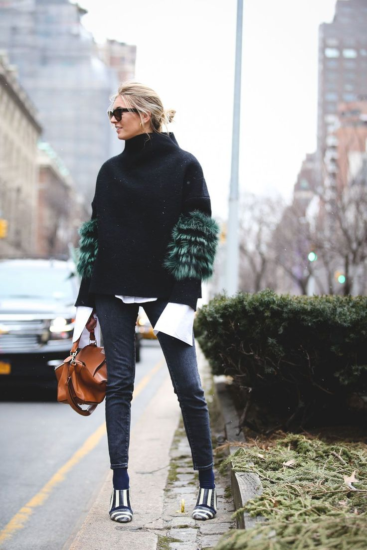 Lessons In Layering From The Streets Of New York City #refinery29  http://www.refinery29.com/2016/02/103173/ny-fashion-week-fall-winter-2016-street-style-pictures#slide-81  Double up on two totally different (but completely complementary) statement sleeves....