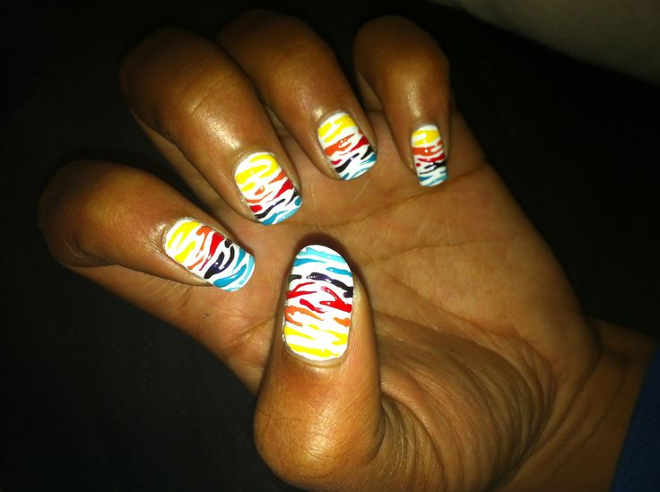 Colourful Zebra Print