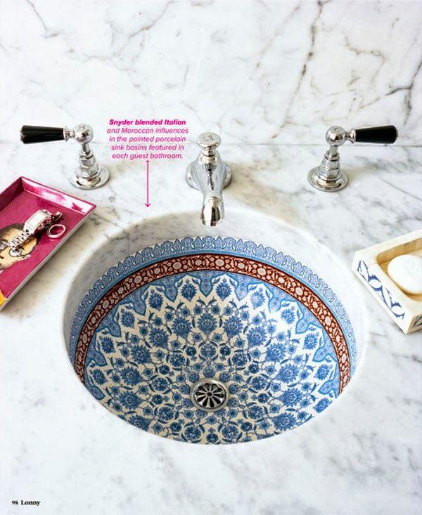 VINTAGE & CHIC: decoración vintage para tu casa · vintage home decor: Lavabos decorados ¿sí o no? · Decorated sinks, yes or not?