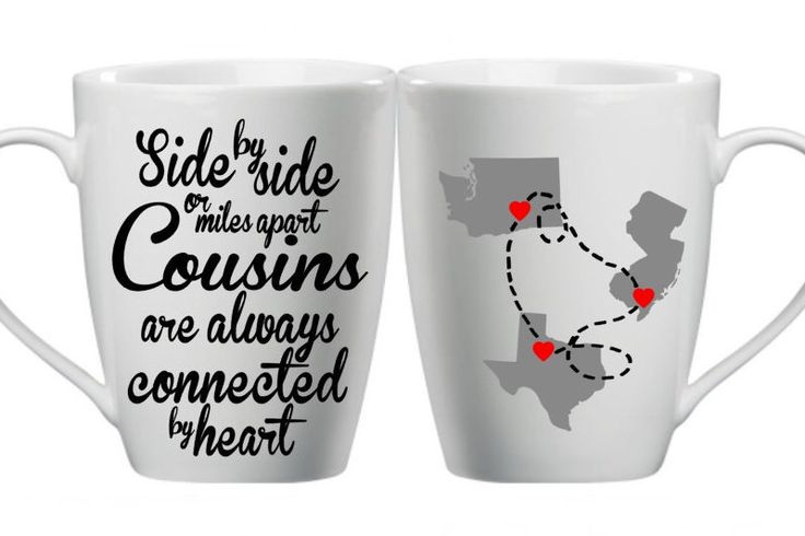 Cousins Mugs - Cousin Gift Idea - Personalized Mugs - Gift For Cousin - Custom…