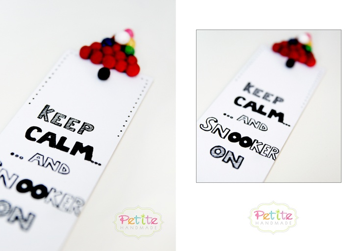 Semn de carte / Bookmark snooker http://petitehandmade.wordpress.com/