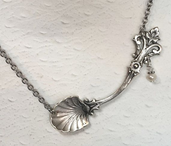Sterling Silver Spoon Necklace Salt Spoon by SpoonfestJewelry