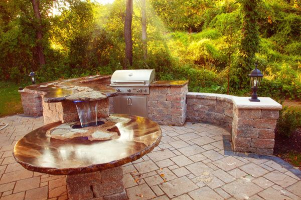 578 Best Images About Outdoor Kitchen On Pinterest Built In Grill Outdoor Living And Ovens