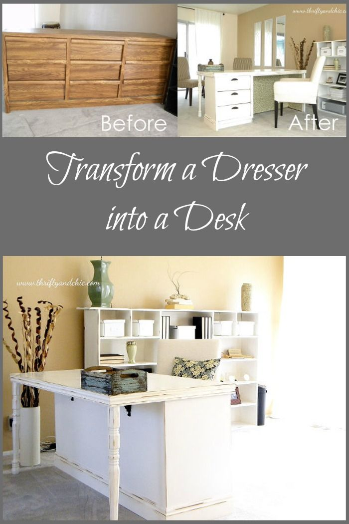 How to transform a dresser into a desk. 17 parasta ideaa  Dresser Alternative Pinterestiss