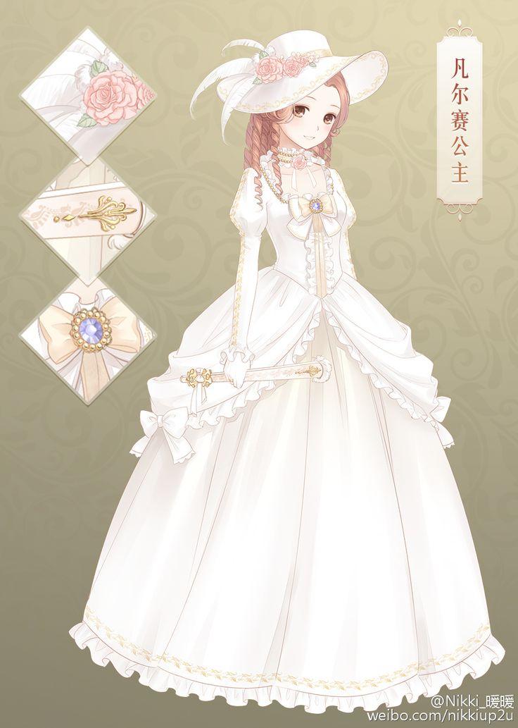 Anime girl wedding dress drawing simple