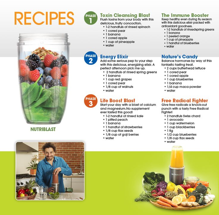 smoothie recipes - love our nutriblast!