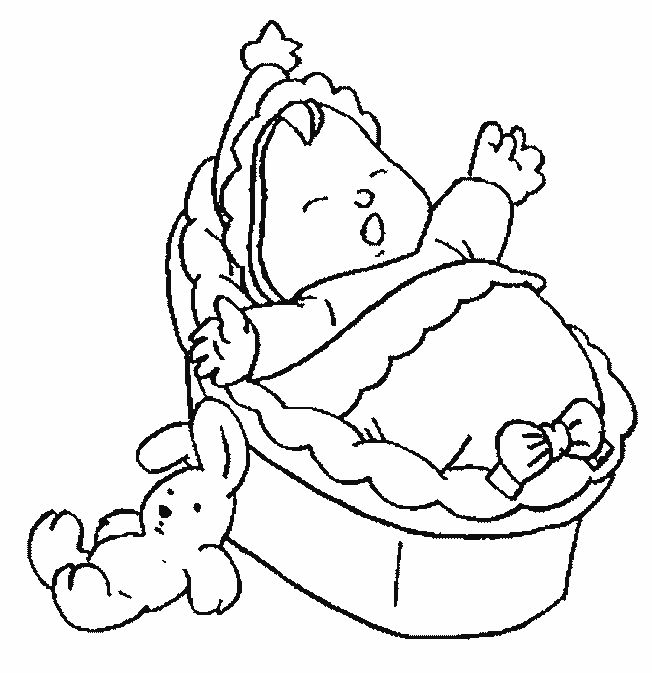 Baby Coloring Pages Showers