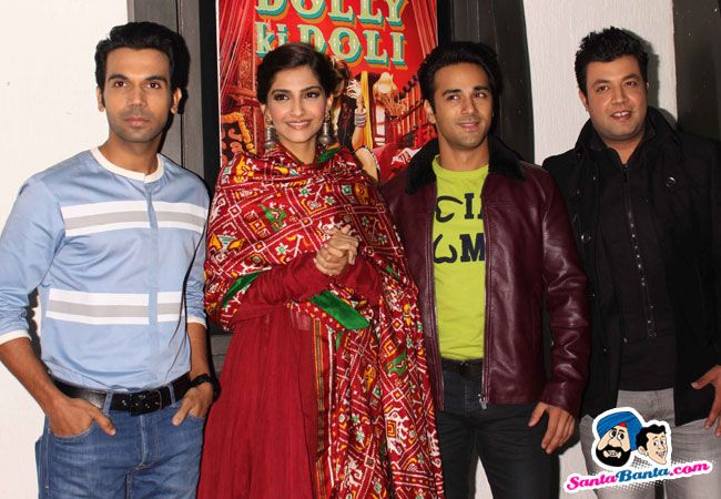 Dolly Ki Doli Press Meet -- Rajkummar Rao, Sonam Kapoor, Pulkit Samrat and Varun Sharma Picture # 294932