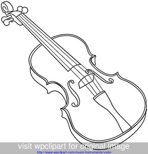 violin outline bold