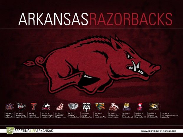 2014 Arkansas Razorback football schedule: http://www.sportinglifearkansas.com/2014-arkansas-razorback-football-schedule-wallpaper/