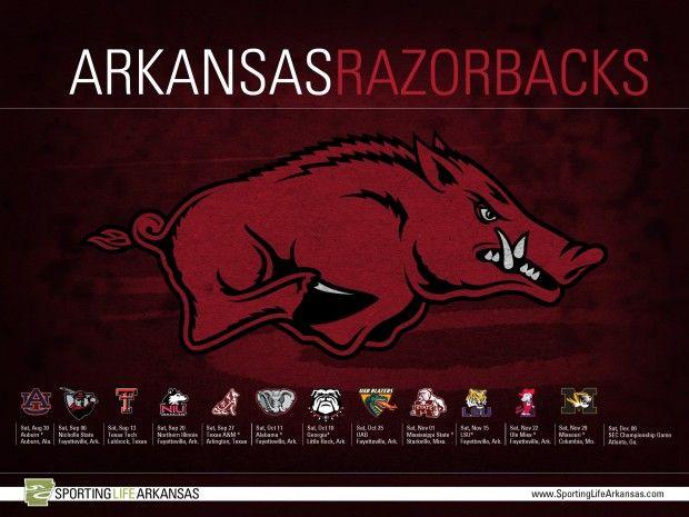 2014 Arkansas Razorback football schedule: http://www.sportinglifearkansas.com/2014-arkansas-razorback-football-schedule-wallpaper/