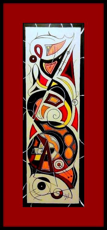 itle: Infinite Safari Media: Acrylic on stretched canvas Size: 36 x 12 Date: July 2013 Description: Original painting by Nicole L. Rittenhouse - Owen. Pictured with a virtual matte and frame. NicoleOwen.com
