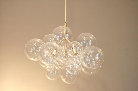 Gold Leaf Paint Glass Bubble Chandelier Glasses The
