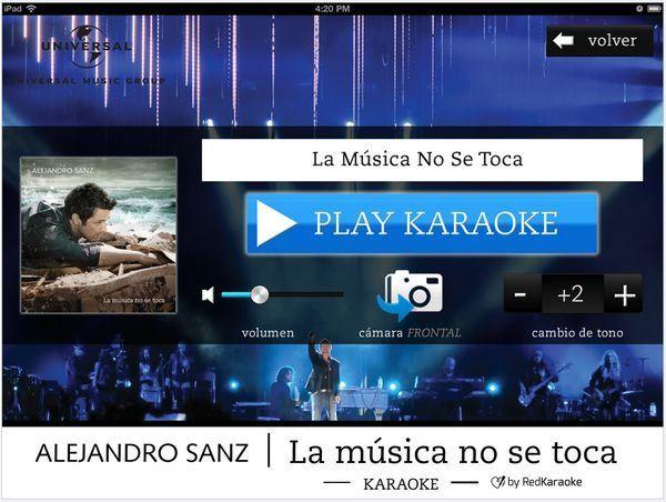 AppsUser: Alejandro Sanz presenta su aplicación de Karaoke: La Música no se toca