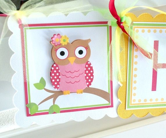 Little Whootie Birthday Banner by ToadallyCuteParties on Etsy, $30.00
