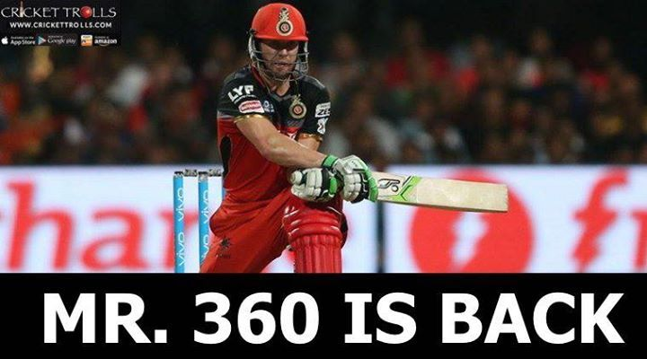 AB de Villiers comes in place of Chris Gayle for today's game #KXIPvRCB #IPL2017 - http://ift.tt/1ZZ3e4d