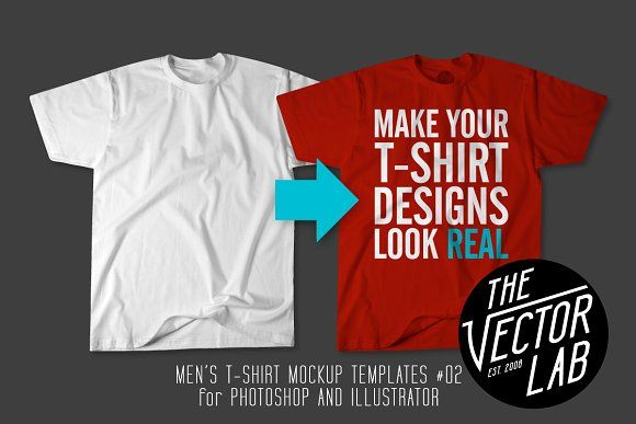 Men's T-Shirt Templates #02 by TheVectorLab on @creativemarket