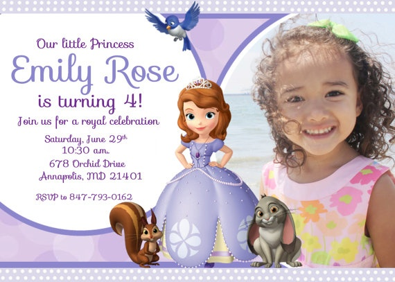 118 best 3rd birthday sofia the first tea party images on sofia the first birthday party invitation by funpartyprints 899 stopboris Gallery