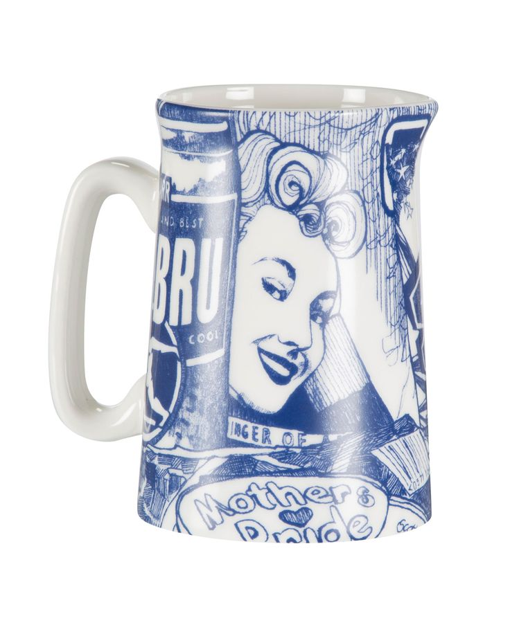 This beautiful Gillian Kyle fine bone china half pint jug is a revamp of our bestselling Scottish Breakfast design. A bevy of Scottish delights – this design will have you hankering for an Irn Bru and a Wham bar before you know it!