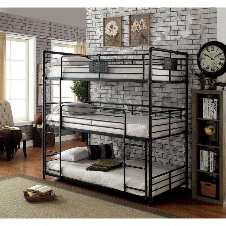 Dowdey Twin Over Twin Triple Bunk Bed Triple bunk beds