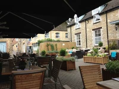 Our sunny courtyard at the Blue Boar, Witney is perfect all year round