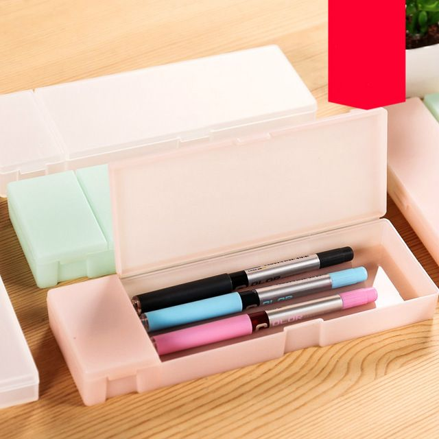 Stunning Online Shop Hot selling MUJI style simple stationary box minimalist candy colored translucent pencil box