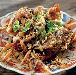 Cornmeal-Crusted Fried Soft-Shell Crabs Recipe — Dishmaps