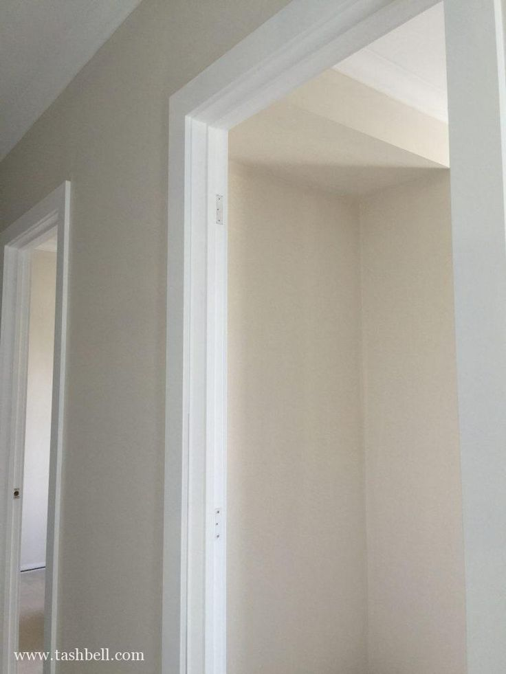 Renovation update 11 - Dulux beige royal quarter walls with Dulux Vivid white trims