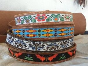Beautiful beaded leather belts by Irona Howe, member of the Cheyenne River Sioux Tribe.