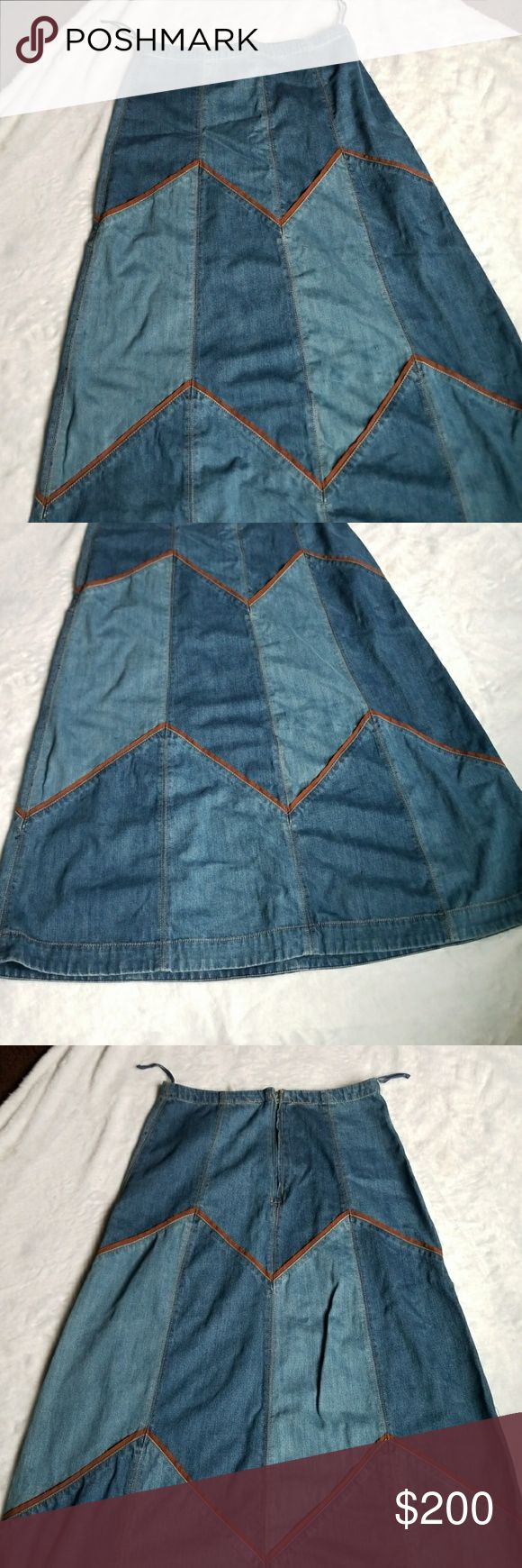 """NWOT Free People Maxi Denim Skirt Sz 12 NWOTFree People Bliss Made A-line Denim Jean Maxi Skirt  Super cute and brand new! Want to save more? Bundle and save on shipping. Measurements:  Length: 38"""" Waist: 15"""" Leg Opening: 32""""  🌟 Smoke free home 🌟 Reasonable Offers Accepted  🌟 All items are recorded in condition listed prior to shipping Free People Skirts Maxi"""