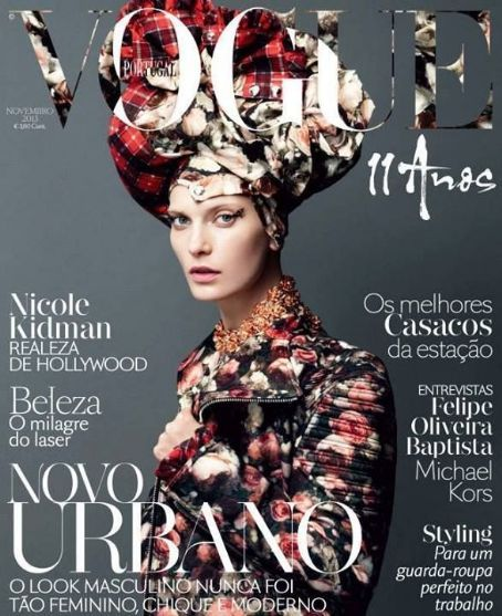 Valerija Kelava - Vogue Magazine Cover [Portugal] (November 2013)