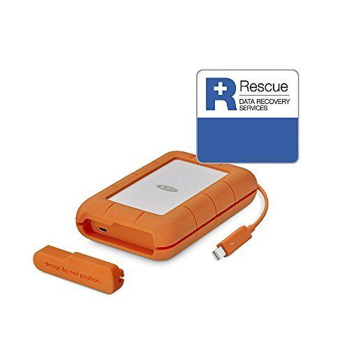 LaCie Rugged TRIPLE – 2 To disque dur externe mobile – LAC9000448 (USB3.0, FireWire 800): Un port Thunderbolt , un port USB-C (compatible…