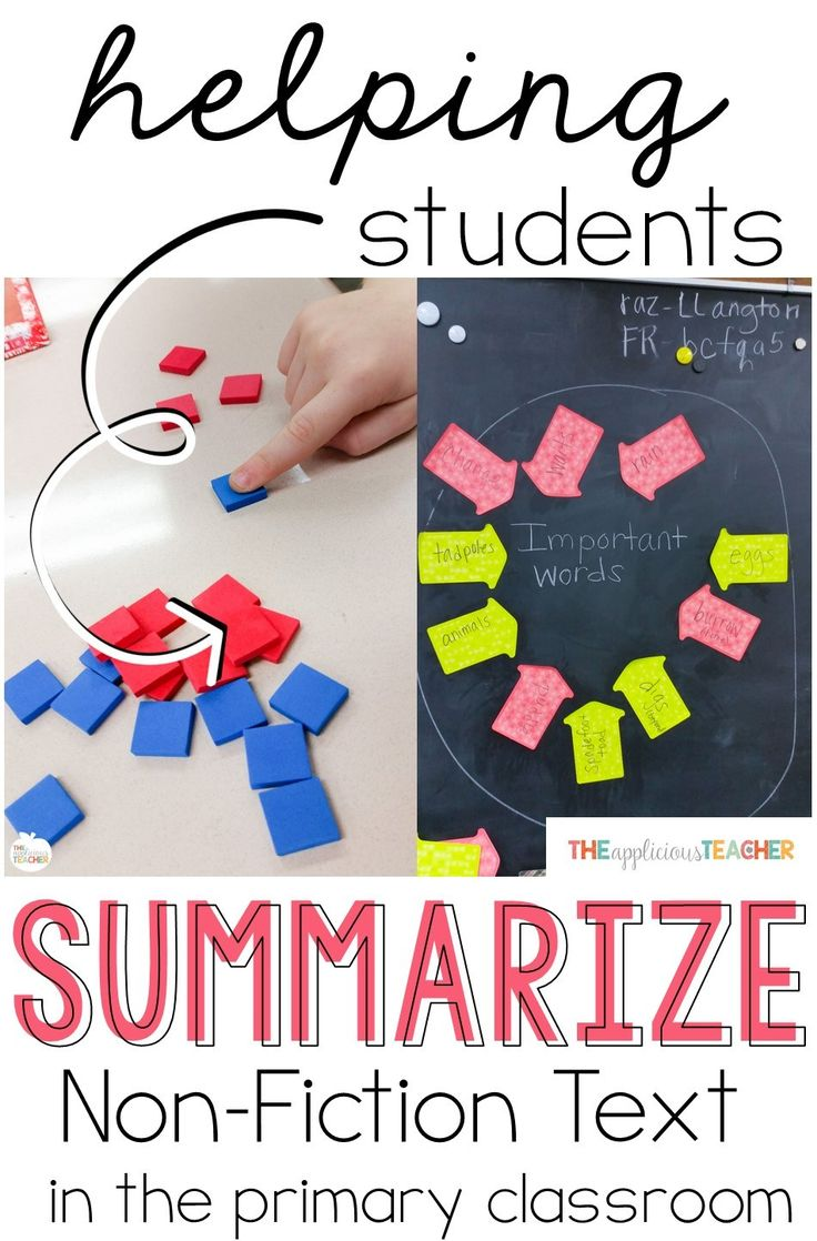 Helping students understand how to summarize text can be a struggle. These suggestions will guide your students to retell a non-fiction text in their own words.