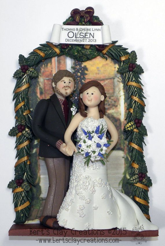DEPOSIT for Custom Bride and Groom Ornament - You MUST contact shop before placing deposit!