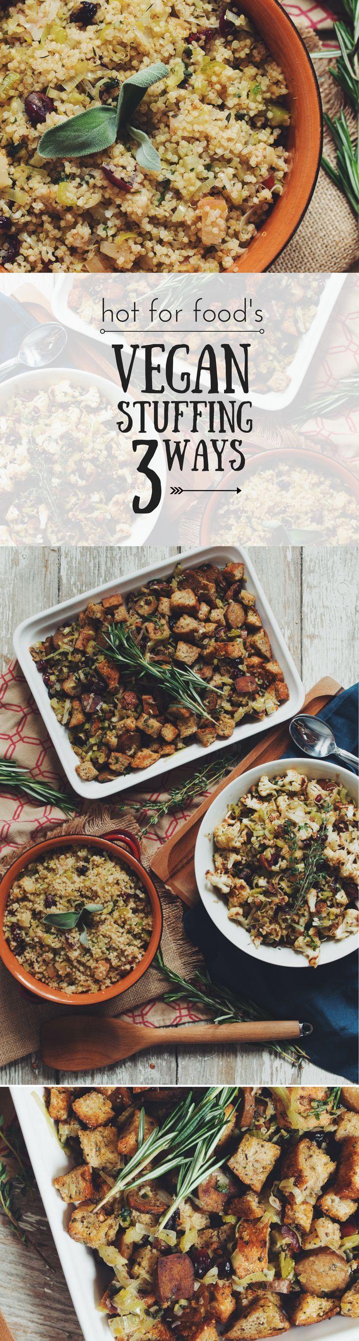 #vegan stuffing 3 ways #THANKSGIVING   RECIPE on youtube.com/hotforfoodblog