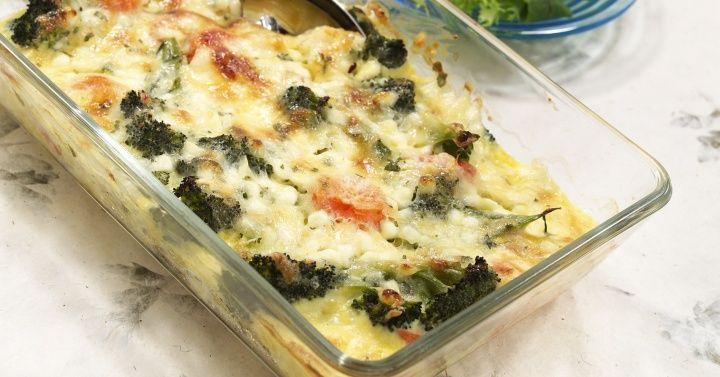 Gratinerte grønnsaker med cottage cheese
