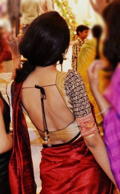 Backless Designer Saree Blouse Designs 2015 3 (not the sleeves, as much!)