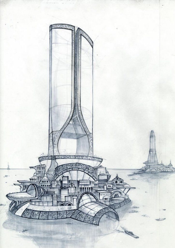 Sketches Futuristic Architecture Complex Forms 724 1 Sketch