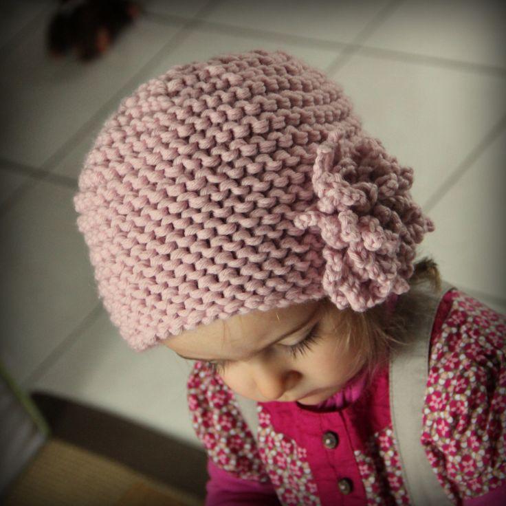 Tricot Bonnet Fleur 2 ans 01