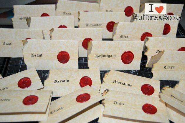 10xTischkarten+Mittelalter+Hochzeit+Burg+Schloss+von+Kartenboutique+auf+DaWanda.com