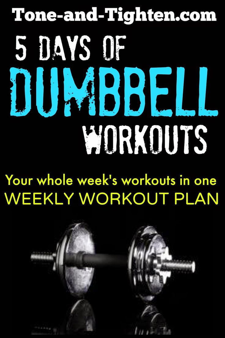 5 days of Dumbbell Workouts - the whole week planned out!