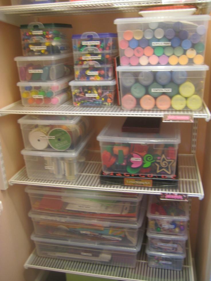 craft room organization: Organized craft closet!  www.alejandra.tv