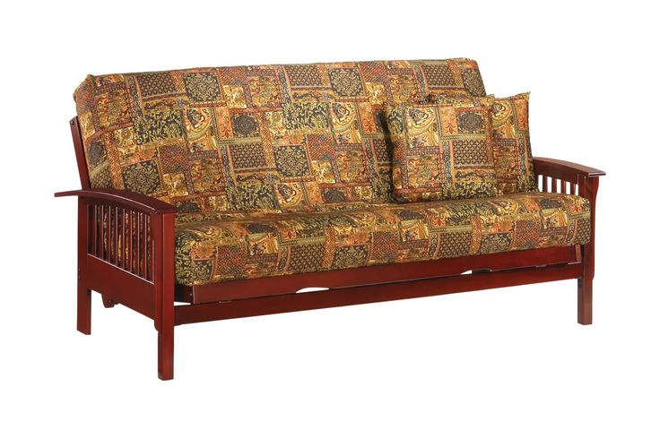Winchester Queen Futon Frame in rosewood finish