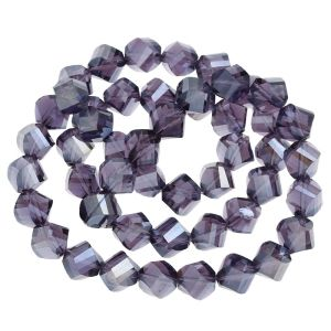 Purple Faceted, Crystal AB 7x8mm, Approx 72
