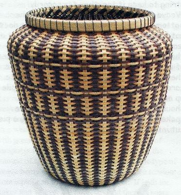 Round Bottomed Two Color Basket Pattern by Judith Olney