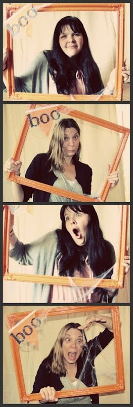 Halloween Photo Booth (would work for any holiday, just decorate frame accordingly)
