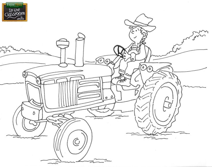 Free Coloring Page FarmTime Classroom Week