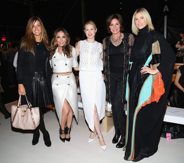 Kelly Bensimon, Diana Madison, Kelly Rutherford, LuAnn de Lesseps and Kristen Taekman at Georgine during New York Fashion Week Fall 2015