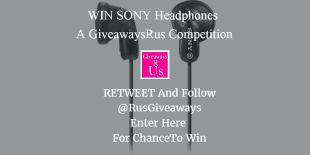 30/8/16 WIN SONY Headphones Giveaway {WW} Ends 04/09/2016